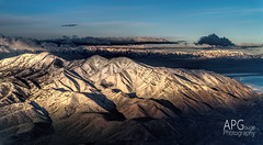 West Mountain, Salt Lake City, UT (APGougePhotography) Tags: city lake snow mountains west detail photoshop airplane utah ut nikon salt delta adobe topaz lightroom d600 denoise topazlabs