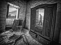 2 Dimension (Ruben Botelho) Tags: abandoned portugal silhouette photoshop person sharp figure algarve hdr urbex cs5