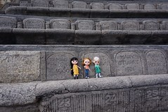 The Girls exploring the Minack Theatre