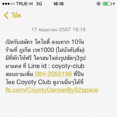 เปิดรับสมัคร โคโยตี้ ลงแทรก 10วัน ร้านที่ ภูเก็ต เรท1000 (ไม่บังคับดื่ม) มีที่พักให้ฟรี ใครสนใจส่งรูปชัดๆ3รูป มาแคส ที่ Line id : coyoty-club สอบถามเพิ่ม 084-2053198 พี่ปืน โดย Coyoty Club ดูงานอื่นๆได้ที่ fb.com/CoyotyDancerByS2space