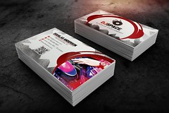 DJ Business Card Template (ryrdesign) Tags: new music color modern print logo corporate dj designer cd creative style best clean business glossy identity card sound excellent pro latest elegant businesscard sleek stylish qrcode