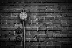 Brick Wall (Manzurur Rahman Khan) Tags: sanfrancisco blackandwhite bw brickwall nik tenderloin
