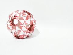 Antiope Kusudama (Clint Joe) (Clint Joe) Tags: art 120 30 night ball paper photo origami quilt geometry modular locks geometrical paperfolding icosahedron folding degrees modules units shaping kusudama geometer