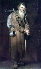 Wassili Grigorjewitsch Perow: Der Pilger, 1870 (wolfgraebel) Tags: old portrait man cane century standing painting beard stock bart pole mann russian alter wanderer 19th gemlde russisch vassili stehend wanderstock perov wanderstab stannik