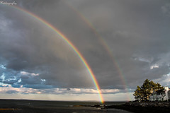 Double Rainbow (Rivitography) Tags: ocean canon rebel rainbow connecticut greenwich longisland adobe t3 doublerainbow rare lightroom 2014 rivitography