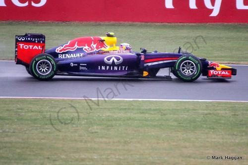 Daniel Ricciardo in his Red Bull during Free Practice 3 at the 2014 British Grand Prix