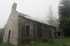 misty church (cycletom) Tags: france outdoor hiking backpacking solo backcountry gr5 genfnizza viaaplinared viaalpinared longdistancehikebackpacking
