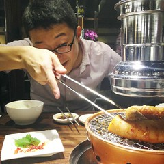 Super Fatty Beef Small Intestine @Marumichi, Shanghai (Phreddie) Tags: china food dinner japanese restaurant yum shanghai beef bbq meat grill delicious offal gubei horumon marumichi