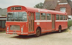 Hants & Dorset 630 ; CRU140L - Bishops Waltham . May1980 (busmothy) Tags: red bristol nbc re 630 43 ecw outstation bishopswaltham hantsanddorset payasyouenter cru140l