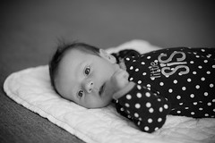 little SiS (Craig's Collection) Tags: portrait bw baby girl canon blackwhite 6d 85mm18