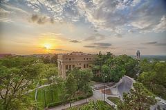 Summer Sunset on campus (Kansas Poetry (Patrick)) Tags: kansas lawrencekansas kansasuniversity universityofkansas patrickemerson patricknancy