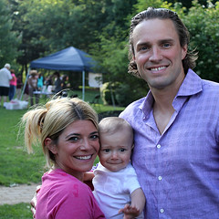 Board member Erica Van Meeter with her son, and husband Matthew