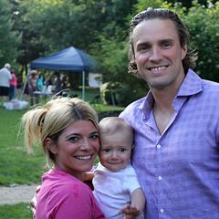 Board member Erica Van Meeter with her son, and husband Matthew
