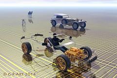 the development of human transport (Auto_Matik) Tags: art car bike digital 3d surrealism render transport engine surreal camel human fantasy bryce development