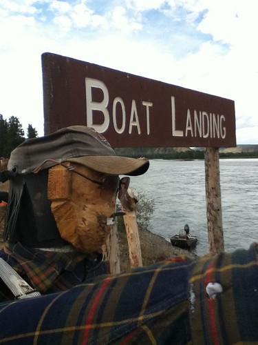 Fort Selkirk boat landing
