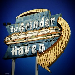 Grinder Haven (Heaven?!) (mollyblock) Tags: california ca signs ontario sign vintage typography restaurant design neon socal signage americana roadside southerncalifornia grinder typeface iphone vintagesign grinders vintagesigns vintageneonsign iphoneography mollyblock uploaded:by=flickrmobile flickriosapp:filter=nofilter grinderhaven