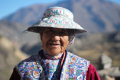 Old lady of the Canyon (Hannah_Kirkland) Tags: travel portrait people woman peru face clothing faces traditional culture canyon tradition colca indigenous