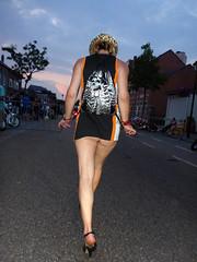 on a walk (fatboyke (Luc)) Tags: sunset sexy girl walking highheels belgium rally bikes meeting days harley babes hd davidson bikers treffen 2014 leopoldsburg