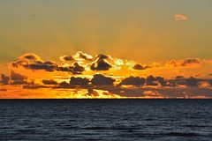 Semaphore Adelaide (Aaron Trombetta) Tags: sunset sun beach clouds coast nikon adelaide sunrays cloudporn goldenhour semaphore d3200 aarontrombetta