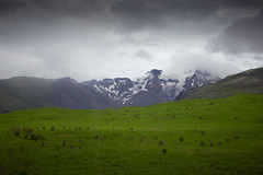 (k.johannajoyce) Tags: park light white mountain snow mountains green nature beauty coast iceland tour shed august glacier southern national land volcanic 2014 skaftafell fertile grayline