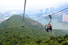 Ngong Ping 360 Cable Car - Hong Kong 2014 (Povey Pics) Tags: travel summer holiday landscape hongkong scenery cannon cablecar 550d