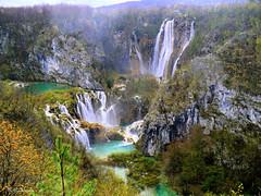 Vue générale Plitvice (Croatie) (Raymonde Contensous) Tags: nature croatie plitvice plitvičkajezera photosargentiques lacsetcascades