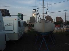 Settling in on the Hudson (Mark Ittleman) Tags: nj hudsonriver boatyard rvboatyard