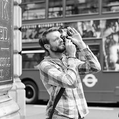 Street Shooter (D.J. De La Vega) Tags: street slr london film nikon df candid olympus