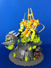 The end of the Crystal King pose 2 (Hen Peril) Tags: monster rock king power lego crystal hard suit miner mech moc