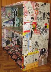 Kawaii stationary decoupage shelf, right side (miss_skittlekitty) Tags: moon cute paper japanese diy gothic manga shelf lolita kawaii kira sailor deco imai stationary decoupage collaged