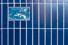 Blue Box (Boaz Arad) Tags: blue white abstract netherlands amsterdam wall grid lock