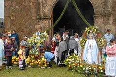 Assumption Day Mexico (Ilhuicamina) Tags: flowers mexico women mary fiestas mexican asuncion mujeres michoacan assumption purepecha