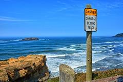 Coast Line at Devils Punchbowl (Kirt Edblom) Tags: statepark park beach oregon mos coast nikon surf pacific scenic pacificocean newport wife oregoncoast devilspunchbowl 2014 lincolncounty gaylene easyhdr nikond7100 moswest