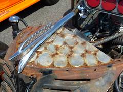 HoodArt & copenhagen lids (bballchico) Tags: truck pickup 1954 dodge hoodornament ratrod 2014 artmetal 1954ish rattruck hoodart ratbastardscarshow bryonneff copenhagenlids ratbastardsinfestationcarshow