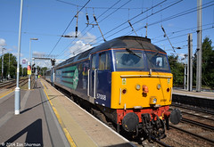 57008  90011 'Lets Go East of England'  20th Aug 2014 Ipswich (Ian Sharman 1963) Tags: england station electric train diesel lets go engine rail loco class east crewe norwich locomotive greater aug 90 20th services direct 57 ipswich anglia 2014 drs abellio 57008 90011 0z45