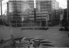 In&out (1 of 2) - HWW! (unefunge) Tags: city windows blackandwhite window architecture analog germany landscape cityscape cologne analogue koeln mediapark kodakautographic windowwednesdays oldgearneverdies