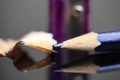 Pencil sharpener (jumpandwave) Tags: school macro reflection pencil canon back shaving sharpener backtoschool mondays macromondays jumpandwave