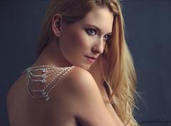 Adorned with diamonds. (gestiefeltekatze) Tags: lighting light beauty diamonds studio glamour ad jewelry sensual elf blond blonde stunning editorial shoulder inning jewellry