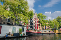 Amsterdam (sxdlxs) Tags: street city travel summer urban holland color colour travelling church water netherlands colors amsterdam river landscape boat canal nikon colorful colours tour angle sightseeing wide streetphotography tourist filter traveling urbanphotography d5100 nikond5100