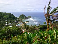 American Samoa (UncleRojelio) Tags: beach water island lava coast surf village pacific south wave shore volcanic