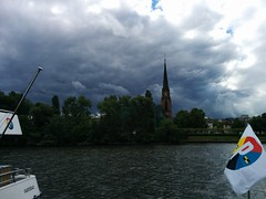 IMG_20140507_115229 (paddy75) Tags: main frankfurtammain duitsland rivier dreiknigskirche mainkai driekoningenkerk