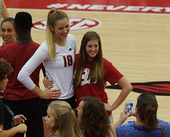 University of Arkansas vs Tennessee State University Volleyball (Garagewerks) Tags: woman college sport female university all state tennessee sony volleyball arkansas fans f28 70200mm views50 slta77v