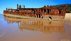 The Rusting Wreck of the SS Maheno, Maheno Beach, Fraser Island, SE Queensland (Black Diamond Images) Tags: tourism australia shipwreck queensland wreck fraserisland maheno easternbeach mahenowreck 75milebeach kgari sequeensland worldheritagearea greatsandynationalpark australianshipwrecks mahenobeach