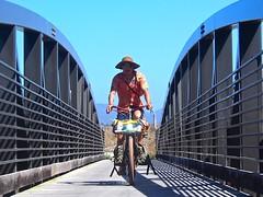 Puck bridge (MannyAcosta) Tags: moon mountain beach bay state kurt bikes tommy dirt biking half planet puck mountainbiking halfmoonbay apes overnight hmb rivendell purisima singletrack bombadil mannyacosta s240 hillborne hunqpillar picturesproveithappened
