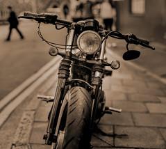 20 Photo Bokeh Panoramic (JackSoldano) Tags: white black bike takumar bokeh super panoramic 55mm motor f18
