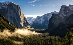 Good Morning Yosemite. (an3iith0) Tags: california snow nature fog forest sunrise waterfall nationalpark twilight yosemite granite halfdome elcapitan anseladams tunnelview