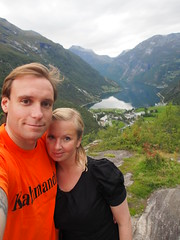 On the quest in Geiranger.