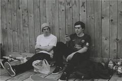 Harrison + Liam (Casey Mark Brown) Tags: blackandwhite bw london film 35mm skateboarding pentax kodak grain skate portsmouth vans cheesey supreme petersfield nikesb sp500