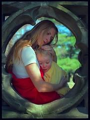 Karin and Son (greggusan) Tags: baby love film nikon fuji estate mother son f3 embrace motherly matronly mckenzieking