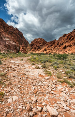 Hiking Vegas (Dooquie) Tags: redrockcanyon travel clouds unitedstates cloudy lasvegas hiking nevada hike redrocks traveling interbike calicobasin canoneos5dmarkiii interbike2014 redrockssprings